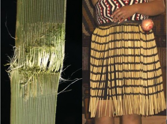 In close-up the construction of the skirt may be seen: